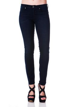 "Our Harper Skinny Jean is an effortlessly modern yet timeless fit that hugs & slims in all the right places!  A quintessential blue black indigo wash with subtle hand sanding gives this pair of Harper denim a sophisticated look & feel.<br><br>   -	37"" length from waist to hem <br> -	28.5"" inseam<br> -	9"" ankle opening<br> -	8"" front rise<br> -	11"" back rise<br> -	26"" waist<br> -	Measured from a size 25<br><br> -	98% Cotton 2% Spandex<br> -	Machine Wash<br> -	Imported<br>"