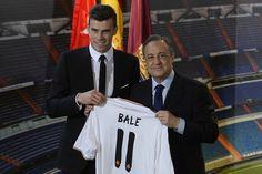Bale presentado con el Real Madrid