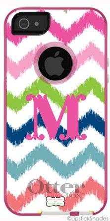 Personalized Otterbox iPhone Case in Multi Ikat Chevron