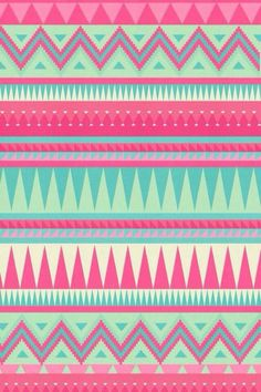 Green And Fucsia Tribal Wallpaper