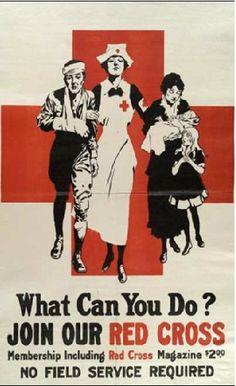 Vintage World War I poster of a nurse tending to a wounded soldier Canvas Art - John ParrotStocktrek Images x Vintage Nurse, Vintage Medical, Vintage Ads, Vintage Posters, Nazi Propaganda, Ww1 Posters, International Red Cross, Cross Pictures, Nurse Art