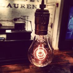 Vintage light bulbs from Denim & Supply in Boston, MA