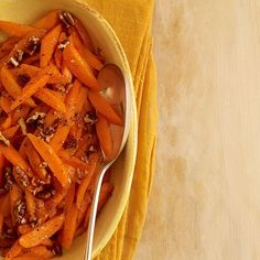 9 Delicious Things To Do With Honey: Honey-Glazed Carrots With Pecans http://www.prevention.com/food/healthy-recipes/9-recipes-and-cooking-tips-honey?s=7&?cid=NL_PVNT_1817010_08282014_9honeyrecipes_text