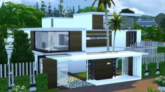 Best modern house the sims 4 - villa mansion the sims, sims sims 4 moder Sims 4 Modern House, Sims 4 House Design, Sims 3 Houses Ideas, Sims 4 Kitchen, Casas The Sims 4, Modern Mansion, New House Plans, House Goals, Decoration