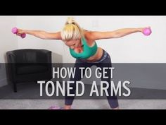 Here& a quick and intense arm workout by fitness trainer, Rebecca-Louise to help you get toned arms. Lose arm fat and build muscle today by doing this toning workout. Fitness Workouts, Fitness Workout For Women, Body Fitness, Fitness Diet, Fun Workouts, At Home Workouts, Health Fitness, Body Workouts, Workout Routines