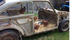 Car to chicken coop!                                           Gloucestershire Resource Centre http://www.grcltd.org/scrapstore/