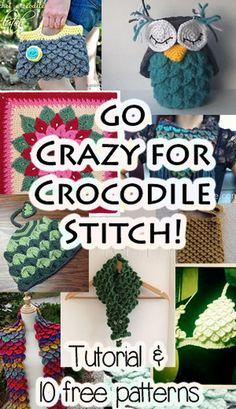 Crocodile Stitch Free Patterns