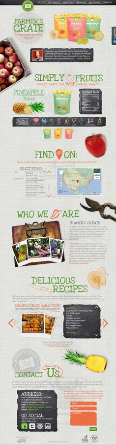 Unique Web Design, Farmer's Crate via @adexos #WebDesign #Design #Food
