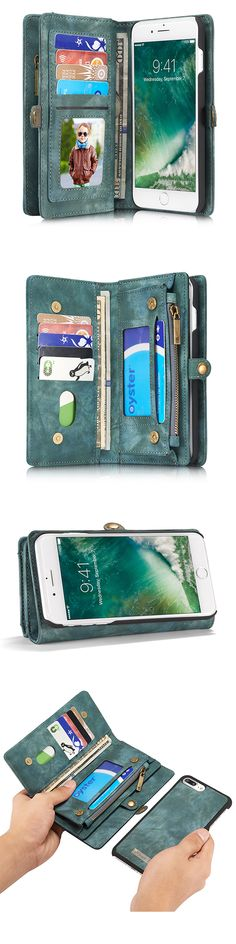 US$18.99 + Free shipping. Leather zipper wallet case, magnetic detachable phone case for iPhone 7 plus 5.5 inches.