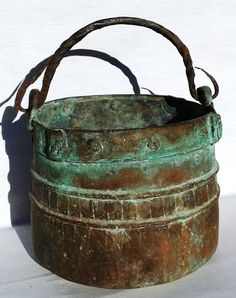 RARE ANTIQUE COPPER Pot Hand Wrought Hammered by FrenchMarketFinds, €96.00
