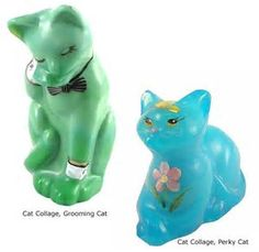 Image result for fenton glass collectibles cats