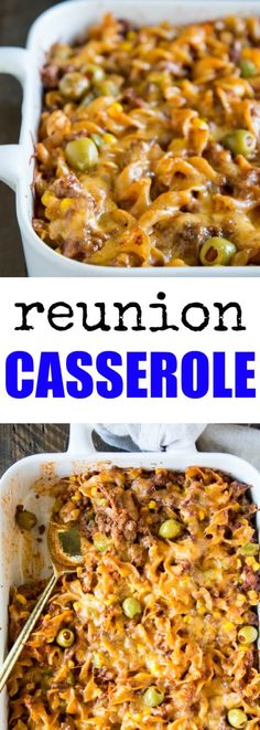 Reunion Sausage Casserole is exactly the type of hearty comfort food you'd want to take to a special occasion. It's so easy, cheesy, and delicious too! Sausage Recipes, Pork Recipes, Cooking Recipes, Recipies, Budget Recipes, Potluck Recipes, Easy Cooking, Pasta Recipes, Free Recipes