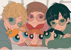 rowdyruff boys and their powerpuff plushies Anime Vs Cartoon, Cartoon Shows, Cartoon Art, Art Sonic, Power Puff Girls Z, Super Nana, Ppg And Rrb, Anime Lindo, Anime Version