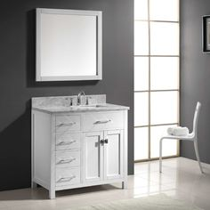 "Found it at Wayfair - Caroline Parkway 35"" Single Bathroom Vanity Set with Mirror"