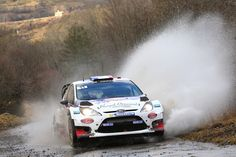 Bryan Bouffier of France and Xavier Panseri of France compete in their M-Sport Ltd Ford Fiesta RS WRC during Day Two of the WRC Monte-Carlo ...