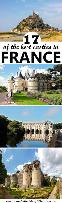 A list of 17 of the best castles in France to visit. From the beautiful French castles in Loire Valley, to the best castles in Normandy and the South of France! Europe Travel Tips, European Travel, Travel Destinations, Budget Travel, France 3, South Of France, Cool Places To Visit, Places To Travel, Paris