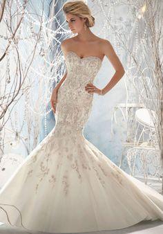 Trumpet Strapless Neckline Sweetheart Has Wedding Dress