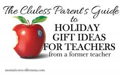 """So glad I found this!  HaHaHa!  Even being a teacher, I have been a """"clueless"""" parent when it comes to gift giving for my kids' teachers..."""