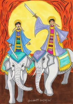 Trung Sisters of Vietnam by Orkideh84 on DeviantArt
