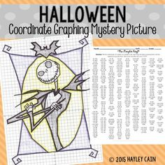 Halloween Skeleton Coordinate Graphing Mystery Picture!