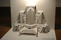 Steam engine pipe organ [Origamic Architecture , Pop up card , kirigmi , 折り紙建築 , ポップアップカード]
