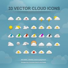 Cloud Icons $6.00