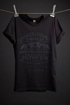 8cf91d2c95 Filthy Gin T-Shirt – Stranger   Stranger - Medium Estampas Vintage