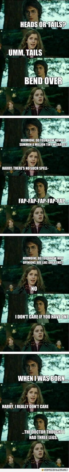 Harry Potter Pick Up Lines. The facial expressions make it better