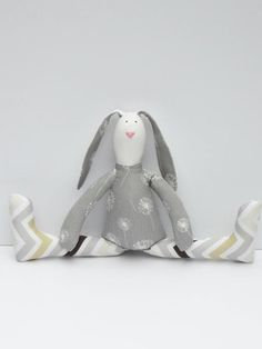 Stuffed bunny rabbit hare plush Easter bunny by HappyDollsByLesya