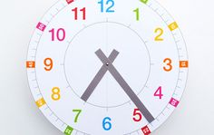 FREE PRINTABLE CLOCK (via http://www.minieco.co.uk/tell-the-time-clock-free-printable/)