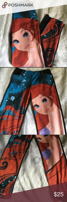 Little mermaid skinny pants NWOT! Reposh. Bought them nwot. Listing said size 4. Disney couture brand. Real front and back pockets! Very soft, almost like jeggings Disney Jeans