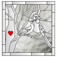 Two cardinals 4 Making Stained Glass, Custom Stained Glass, Stained Glass Birds, Faux Stained Glass, Stained Glass Designs, Stained Glass Panels, Stained Glass Projects, Fused Glass, Mosaic Art