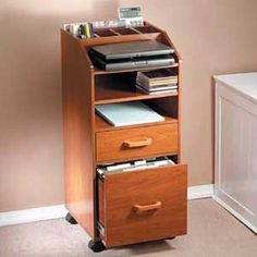 Laptop Computer Cart compact and mobile, cherry finished melamine laminated pull-out shelf just the right size for a laptop computer plus two fixed shelves for a small printer and supplies, books and manuals. Printer Desk, Small Printer, Desk With Keyboard Tray, Printer Stand, Laptop Desk, Taylor Gifts, Mobile Storage, Work Station Desk, Collections Etc