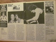 Billy Joel, Two Page Vintage Clipping 1970s Music, Billy Joel, Poster Colour, Vintage Clip