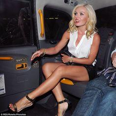 Katherine Jenkins was seen enjoying a night out in London
