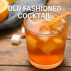 A classic cocktail recipe! An Old Fashioned is made by muddling sugar with bitters and then adding whiskey. Finish it with an orange peel and serve it in an old fashioned glass. This creates an easy, yet impressive and timeless cocktail. It's the perfect way to dress up your favorite whiskey. #cocktail #recipe