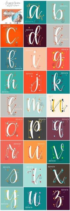 Ideas Drawing Tutorial For Beginners Hand Lettering Modern Calligraphy For 2019 Hand Lettering Alphabet, Calligraphy Letters, Brush Lettering, Modern Calligraphy, How To Do Calligraphy, How To Caligraphy, Brush Pen Calligraphy, Calligraphy For Beginners, Cursive Alphabet
