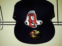 8e14723a7a0 NEW ERA Hat Fitted Cap 5950 MLB Baseball boston red sox size 7 1 2