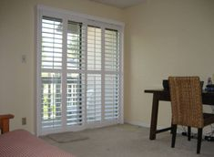 Home Design And Decor , Shutters For Sliding Door : Plantation Shutter  Sliding Door