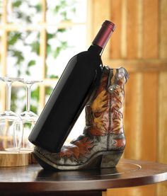 Cowboy Boot Wine Bottle Holder -GetYourGiftHere
