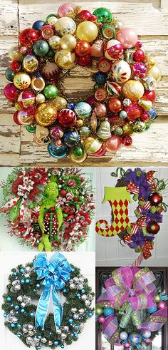 If you have been buying up America's supply of vintage christmas balls at yard sales (and are running out of trees to put them on) this gorgeous wreath wouldn't be too hard to make.