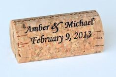 Custom / Personalized Wine Cork Place / Escort Card Holders : CorkeyCreations.com