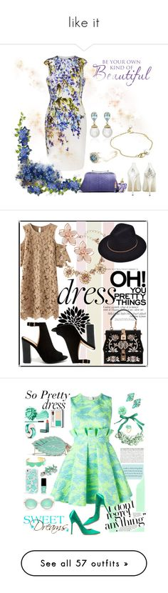 """like it"" by allacyuz ❤ liked on Polyvore featuring HARRIET WILDE, Kiki mcdonough, Blue Nile, Georg Jensen, St. John, Asprey, Lolita Lempicka, Estée Lauder, Bamboo and Oscar de la Renta"