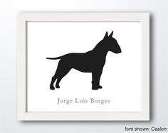 Personalized Hand-Cut Bull Terrier Silhouette with by ShapeofLove