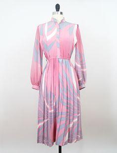 Blush Pink Firework Japanese Vintage Dress https://www.etsy.com/listing/161200041/japan-vintage-dress-70s-dress-pink?ref=shop_home_active #vtg #vintage #fashion #dress #vintagefashion #vintagedress
