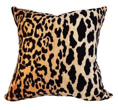 This Braemore Leopard Jamil Natural Throw Pillow Cover is a Sensational Animal…