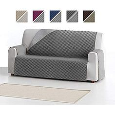 Funda Cubre Sofá ADELE, 3 Plazas, Protector para Sofás Acolchado REVERSIBLE. Color Gris Adele, Love Seat, Couch, Furniture, Home Decor, Cases, Couch Slip Covers, Loveseats, Cover
