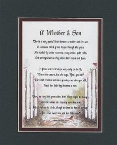 Wedding Gift A Mother Son Touching 8 10 Poem Double Matted