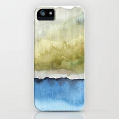 Green by the Sea iPhone & iPod Case by Marina Kanavaki - $35.00