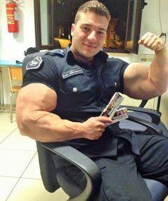 Military Might by BigBergMan on DeviantArt Body Builder, Hot Cops, Muscle Bear, Ideal Man, Muscle Hunks, Men In Uniform, Military Men, Muscular Men, Attractive Men